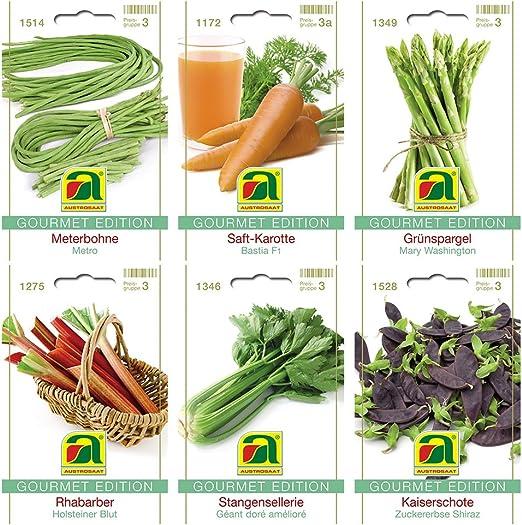 6 variedades | Surtido de semillas de verduras | Edición Gourmet ...