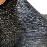 TOLKO Deko-Stoffe Meterware als Gardinen- und Vorhang-Stoff in Blau Schwarz | Breite: 248 cm, für preiswerte Gardine, Vorhang, Sonnenschutz, Beschattung, Zum Nähen