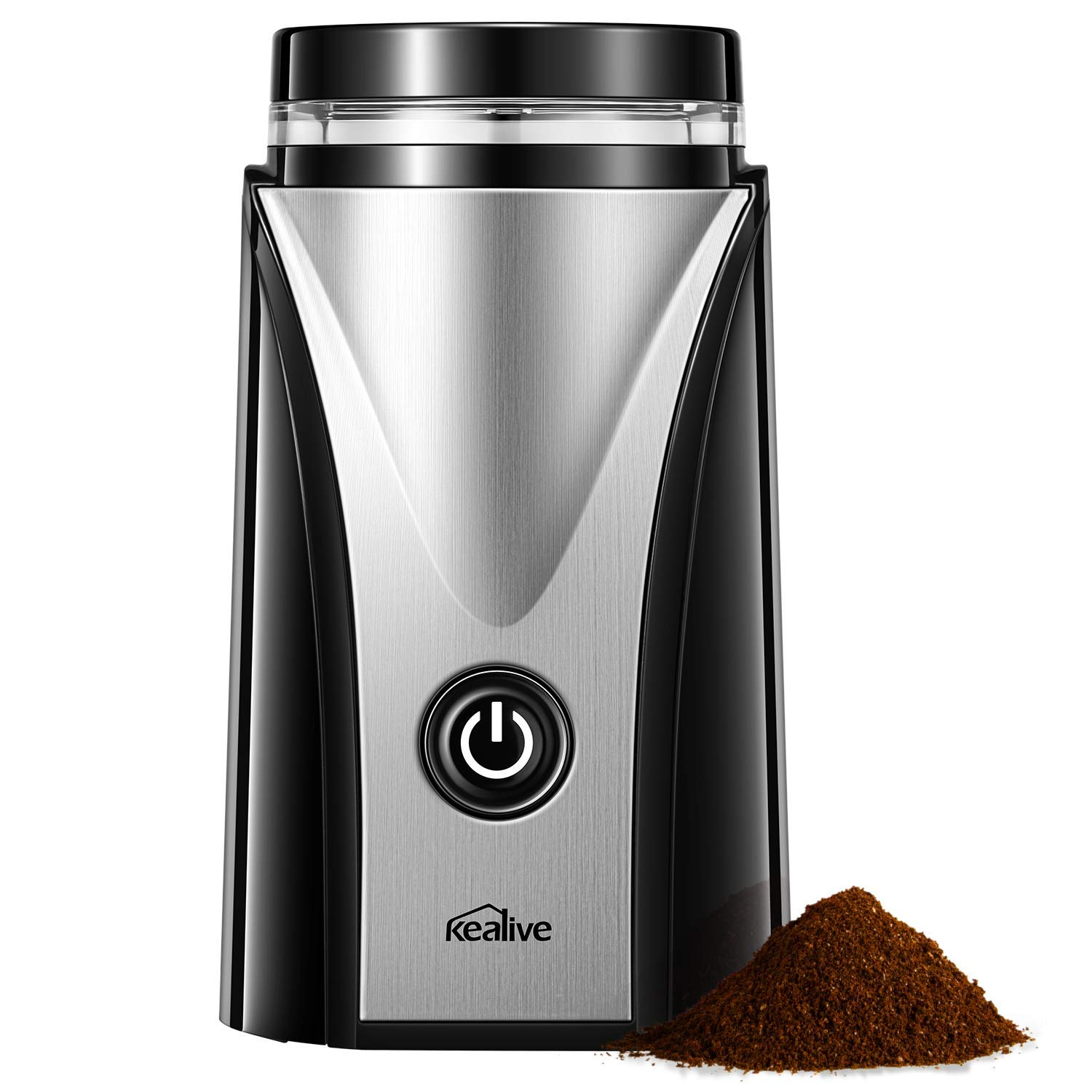 Coffee Grinder, Kealive Electric Coffee Grinder 12 Cup, Coffee Beans Grinder with Stainless Steel Blades for Fast Grinding Coffee Beans, Nuts, Grains, Spices by kealive