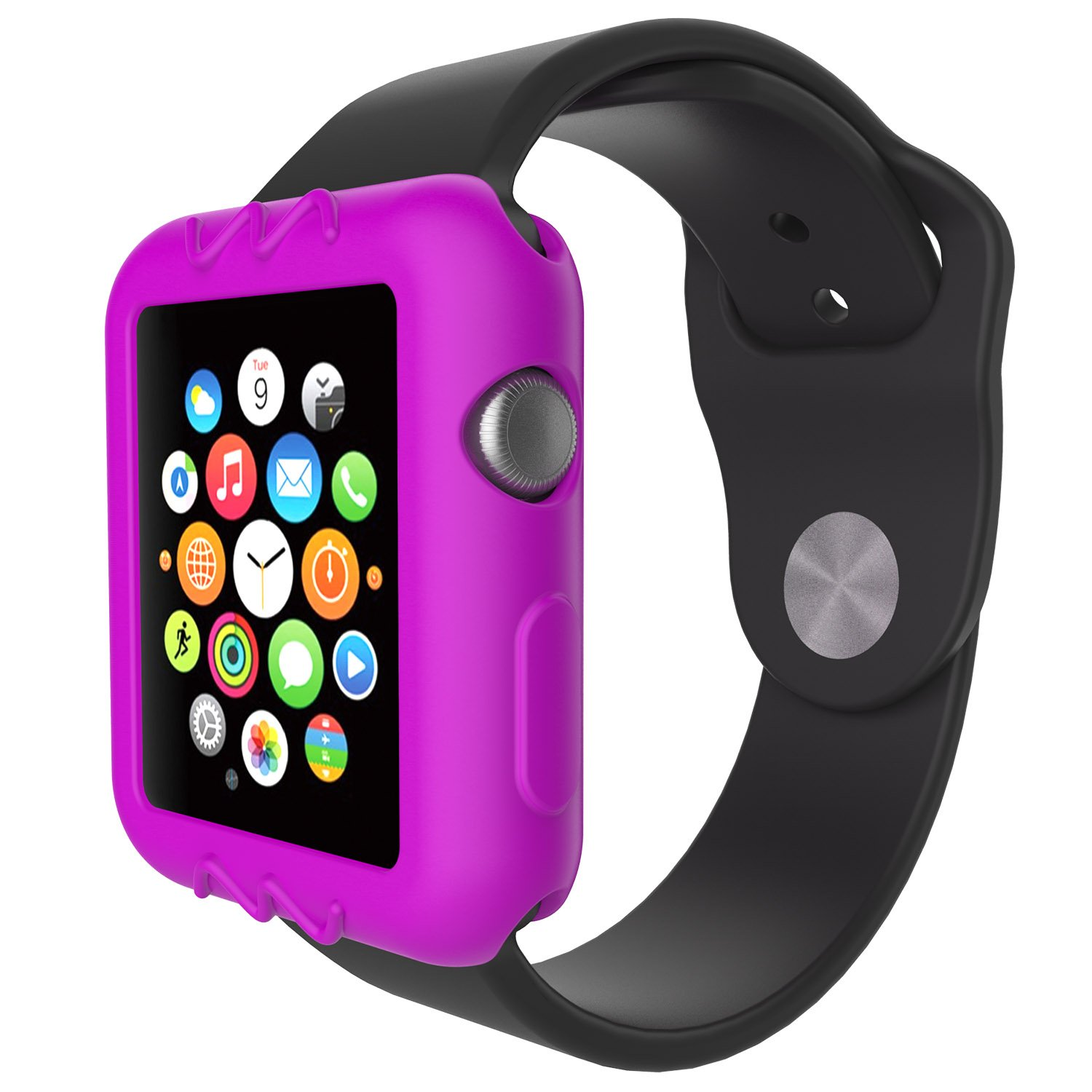 For Apple Watch 42mm Protective Case, 10x Replacement Silicone Soft Case Cover for Apple Watch Series 3 2 1 Smartwatch, 10pcs by E ECSEM (Image #6)