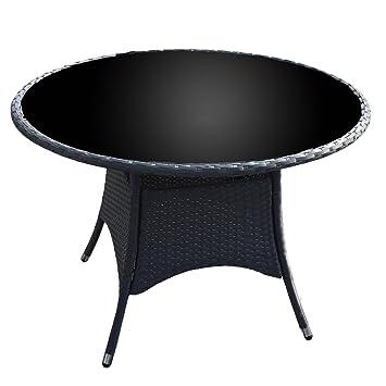 Amazon.de: My-goodbuy24 Polyrattan Tisch Gartentisch Terrassentisch ...