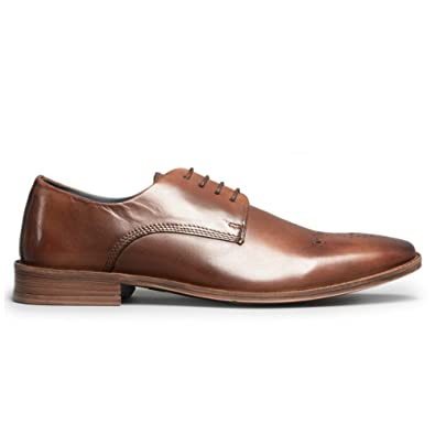 90fd36500cd Silver Street London Saxon Mens Leather Derby Shoes Brown  Amazon.co ...