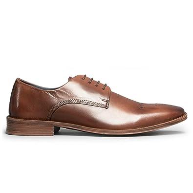f44f5bd4c6d0 Silver Street London Saxon Mens Leather Derby Shoes Brown: Amazon.co ...