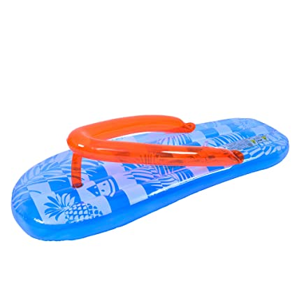 Amazon.com: Flotador hinchable para piscina, color azul y ...