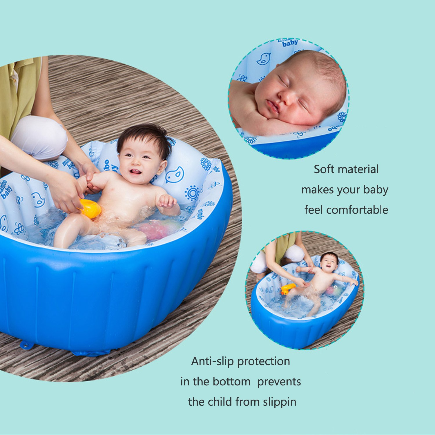 Amazon.com : Movker Inflatable Baby Bathing Tubs and Seats, Baby ...