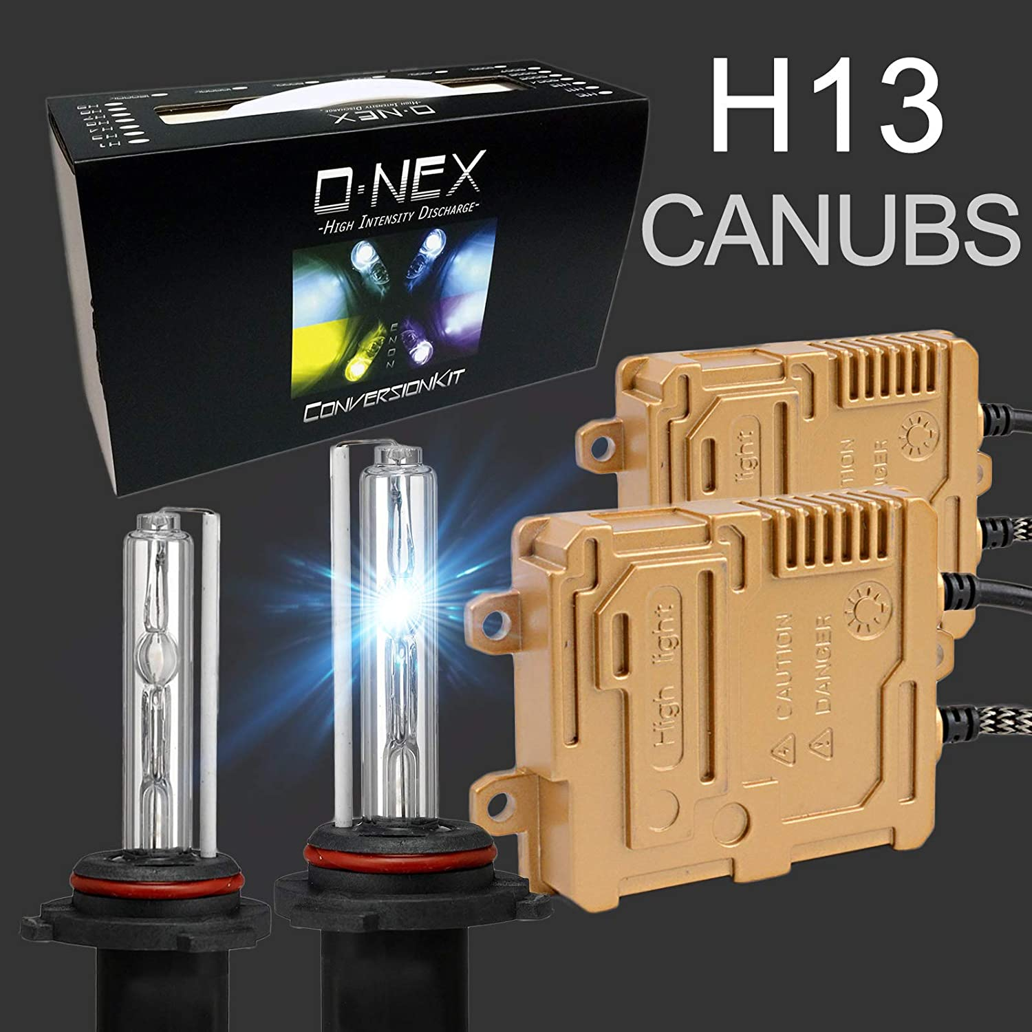 O-NEX H7 Canbus 55W AC Xenon HID Lights Assembly with Slim Digital Ballast 6000K Crystal White