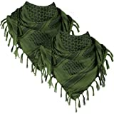 FREE SOLDIER 100% Cotton Scarf Military Shemagh Tactical Desert Keffiyeh Head Neck Scarf Arab Wrap with Tassel 43x43…