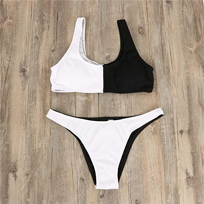 f1f02ccf8f6dd Amazon.com: Swimwear Women's Sport Swim Bra with Shorts Push Up 2 Piece Swimsuit  Bathing Suit for Women: Clothing