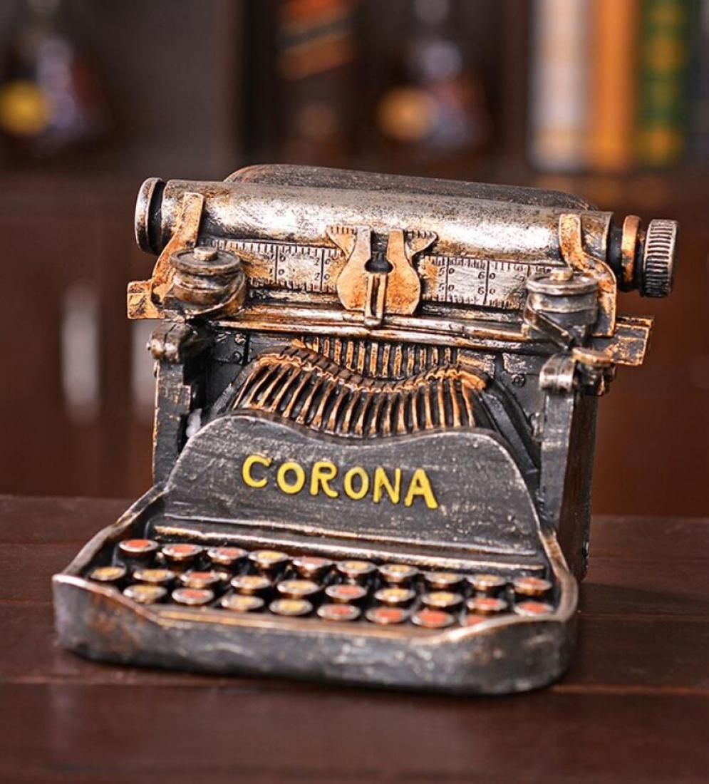 GL&G Retro antiguo estilo máquina de escribir hucha Creative muebles ventana tiro apoyos nostálgico mesa escenas adornos hogar decoración Acentos figuritas ...