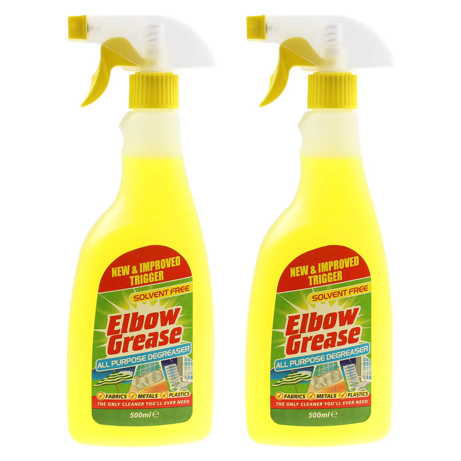 Elbow Grease 2x500ml All Purpose Kitchen Laundry Household Degreaser Cleaner Spray