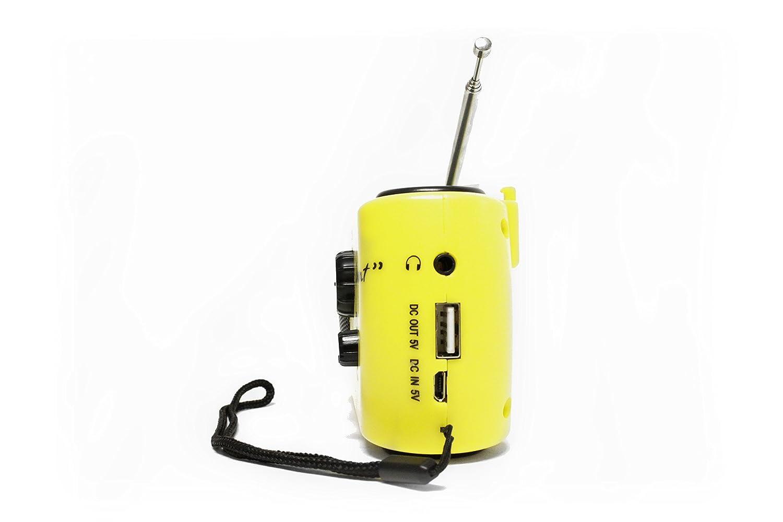 Yellow 10200The Element Dynamo Powered Solar Radio /& Flashlight with NOAA