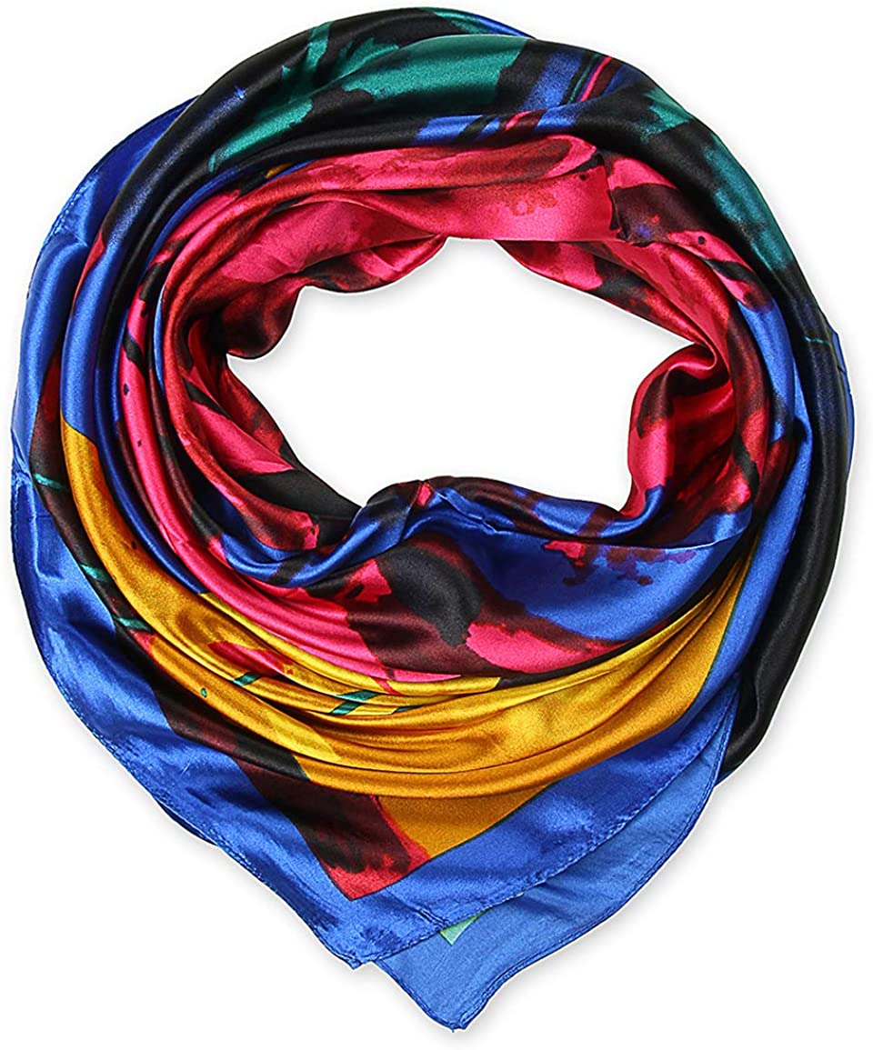 Satin Silk Like Lightweight Scarfs Hair Sleeping Wraps for Women
