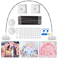 Chamvis Balloon Arch Kit,9FT Tall & 10Ft Wide Adjustable Balloon Stand with Water Fillable Base,50Pcs Balloon Clips,Balloon Pump Knotter-For Wedding Graduation Birthday Party Supplies Decorations
