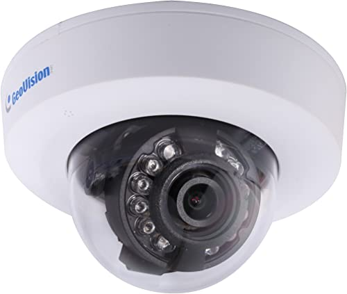 GeoVision 2MP 3.8mm Low Lux Target Series Fixed Dome, DC 12V PoE Megapixel Surveillance Dome Camera, White GV-EFD2100-2F