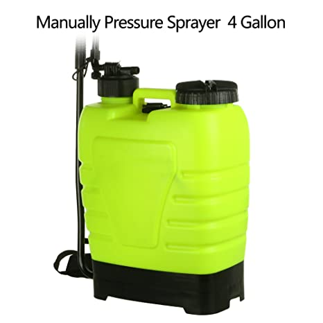 Befied Pulverizador de Presión de 16 litros Mochila Pulverizador Portátil para Jardín