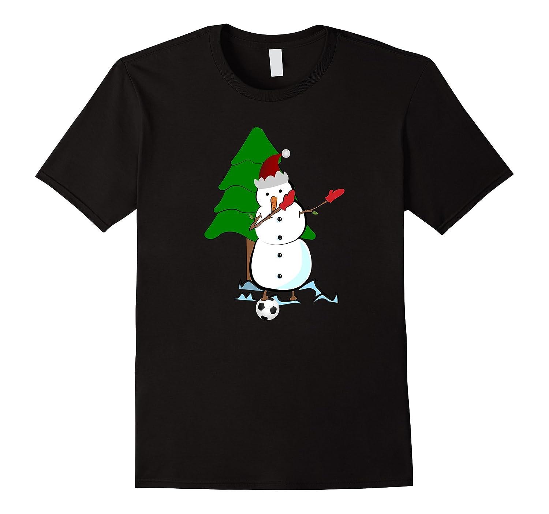 5d1a5de261de2 Funny Snowman Christmas Dabbing Soccer Shirt Kids Men Women-ANZ ...