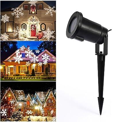 Amazon.com: Proyector de luz de copos de nieve de Navidad ...