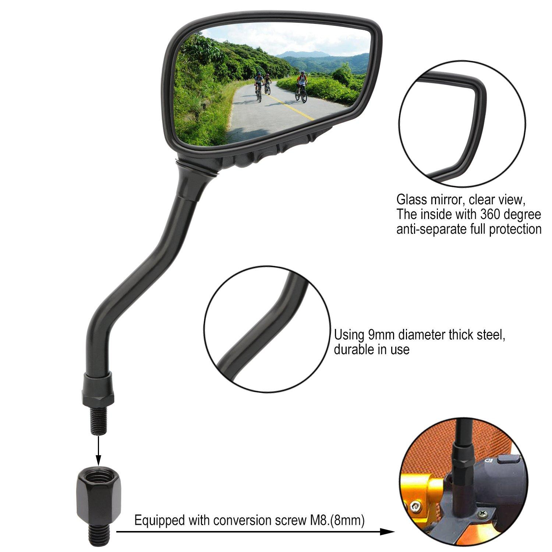 TOPCABIN 1 Pair Bicycle Mirror Bike Rear View Mirror Blindsight Multi Angle