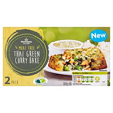Morrisons Meat Free Thai Green Curry Bakepack 280g Frozen