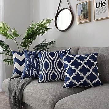 Amazon.com: FanHomcy - Fundas de almohada geométricas de ...