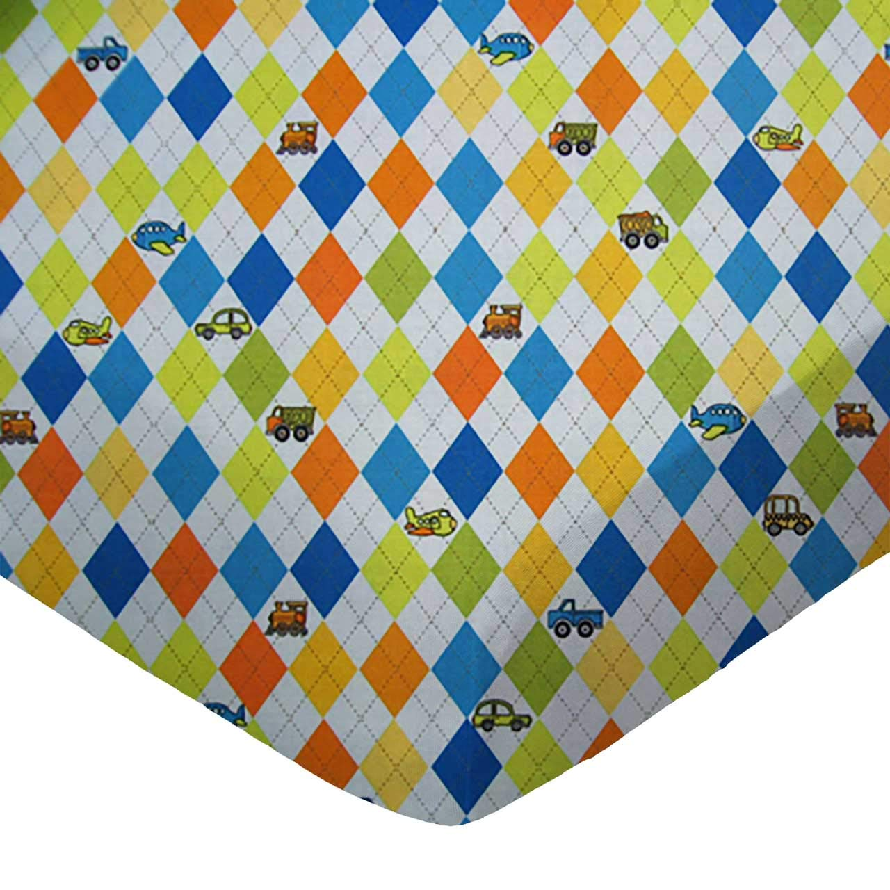 Kiddie Transport Made In USA SheetWorld Fitted Portable Mini Crib Sheet
