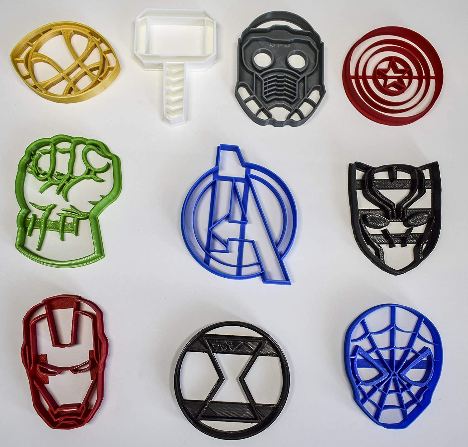 avengers character logos avengers infinity war marvel characters logos set of  special occasion  cookie cutters baking tool made in usa pr