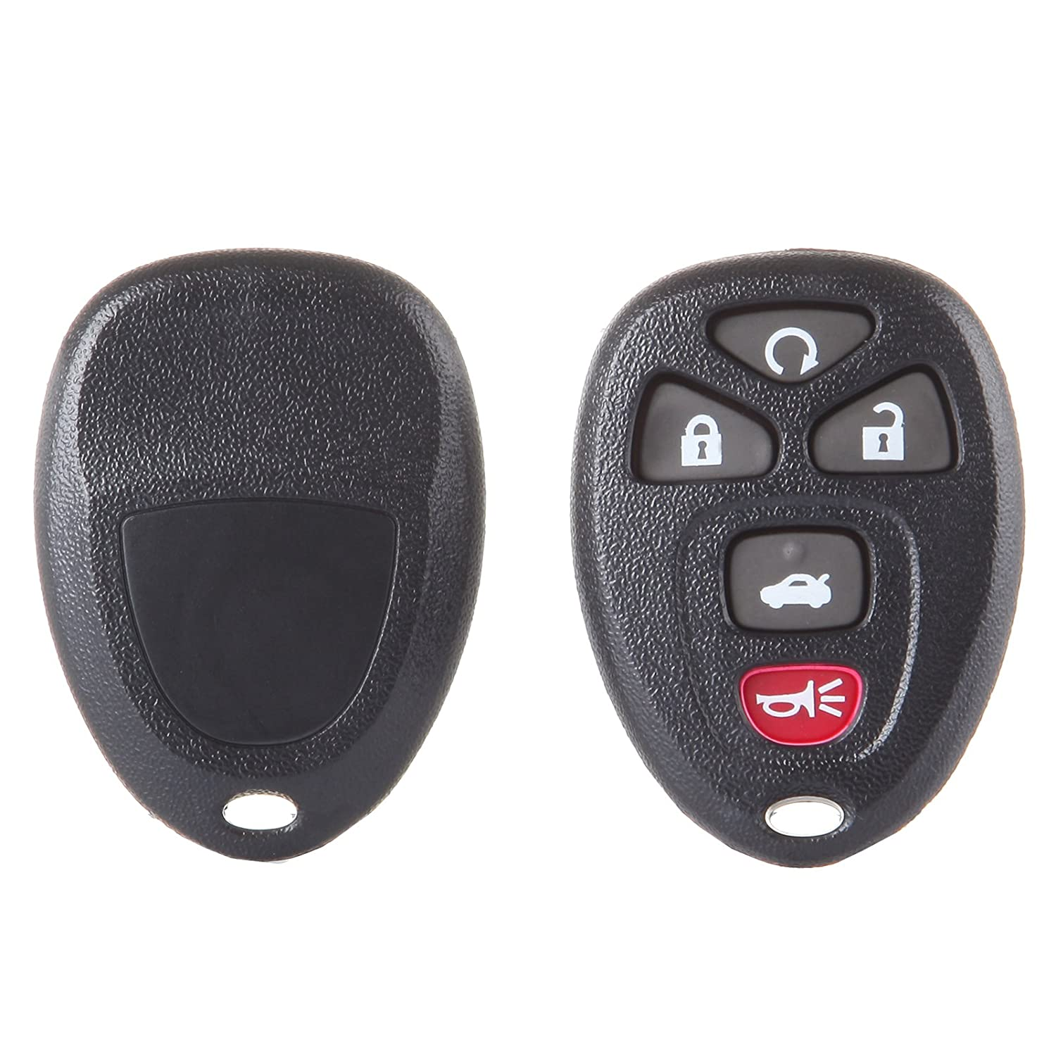ECCPP Replacement fit for Uncut Keyless Entry Remote Control Car Key Fob Shell Case Buick LaCrosse//Chevrolet Cobalt Malibu//Pontiac G5 G6 Grand Prix KOBGT04A Pack of 1