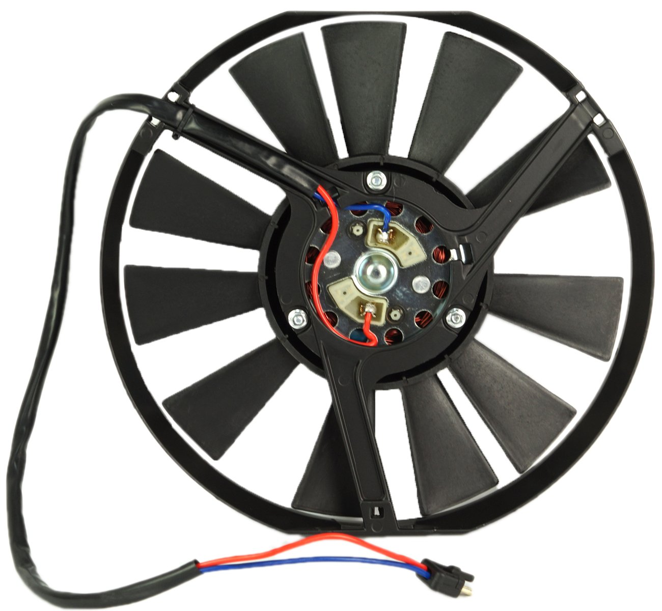 TOPAZ 0005006093 Radiator Auxiliary Cooling Fan Motor Assembly for Mercedes W123 W107 W126