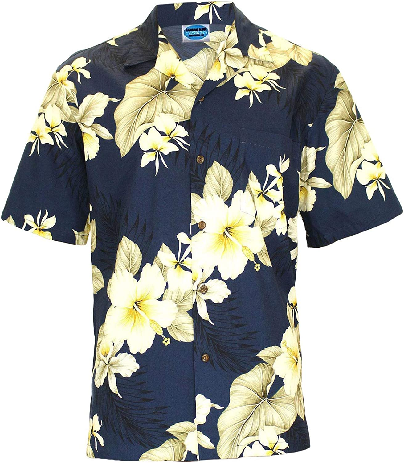Classic Print Hawaiian Shirts in Cotton Hibiscus Trend Open Collar Style