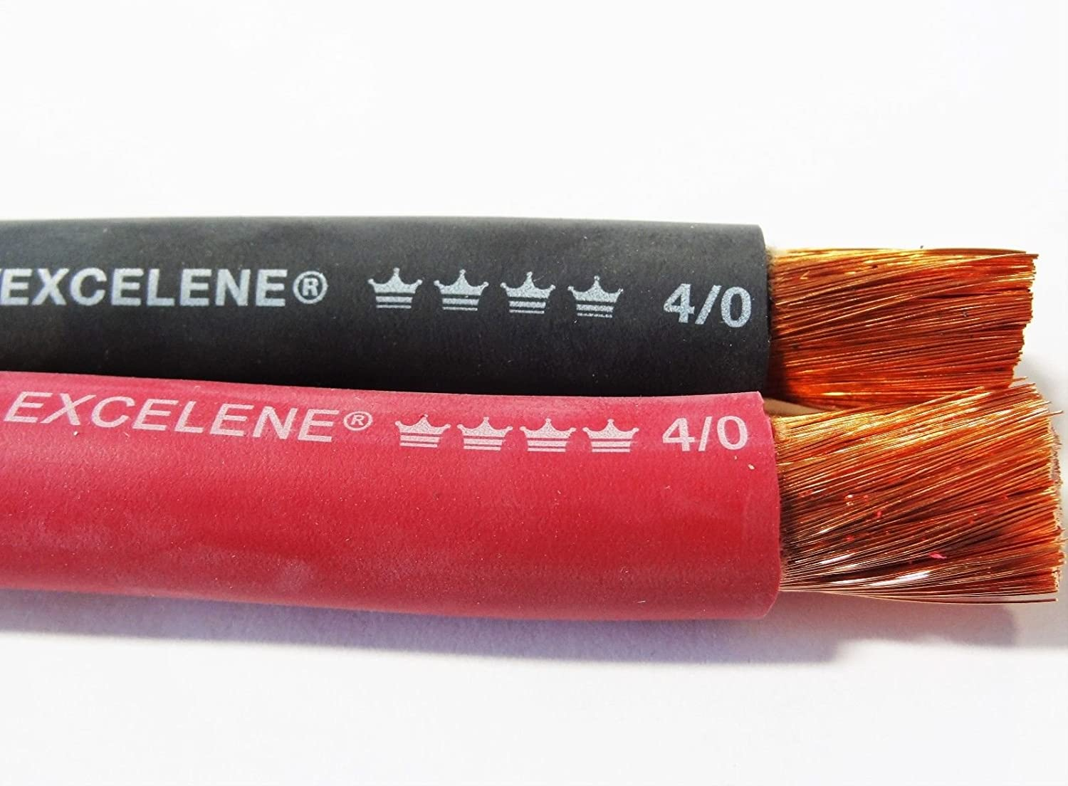 50/' EXCELENE 1//0 AWG WELDING//BATTERY CABLE RED 600V MADE IN USA COPPER