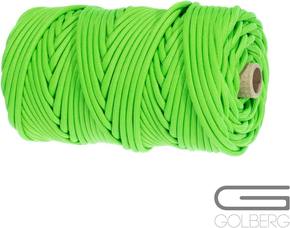 Several Colors and Lengths GOLBERG Type IV 750 LB Paracord 100/% Nylon Made in USA