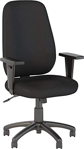 Bush Business Furniture Prosper High Back Task Chair in Black Fabric