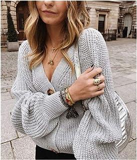 Joyfeel-light Buttons Up Sweater Cardigan Women Knitwear V Neck Womens Clothing Cardigan Korean Style Cardigans