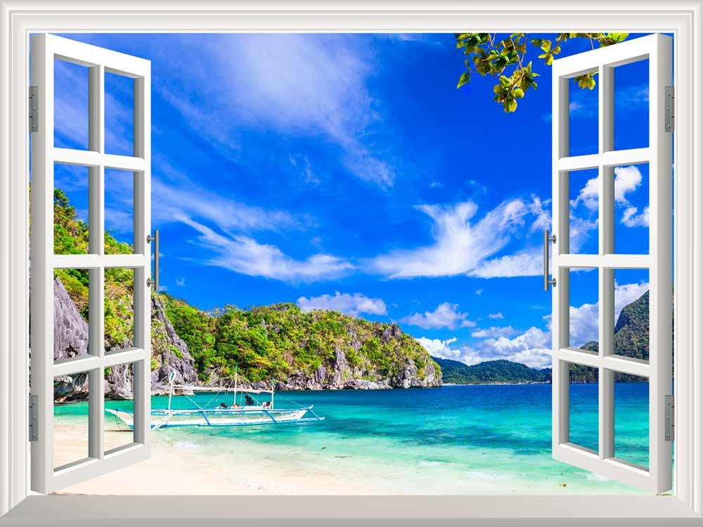 removable wall sticker wall mural panorama of beautiful