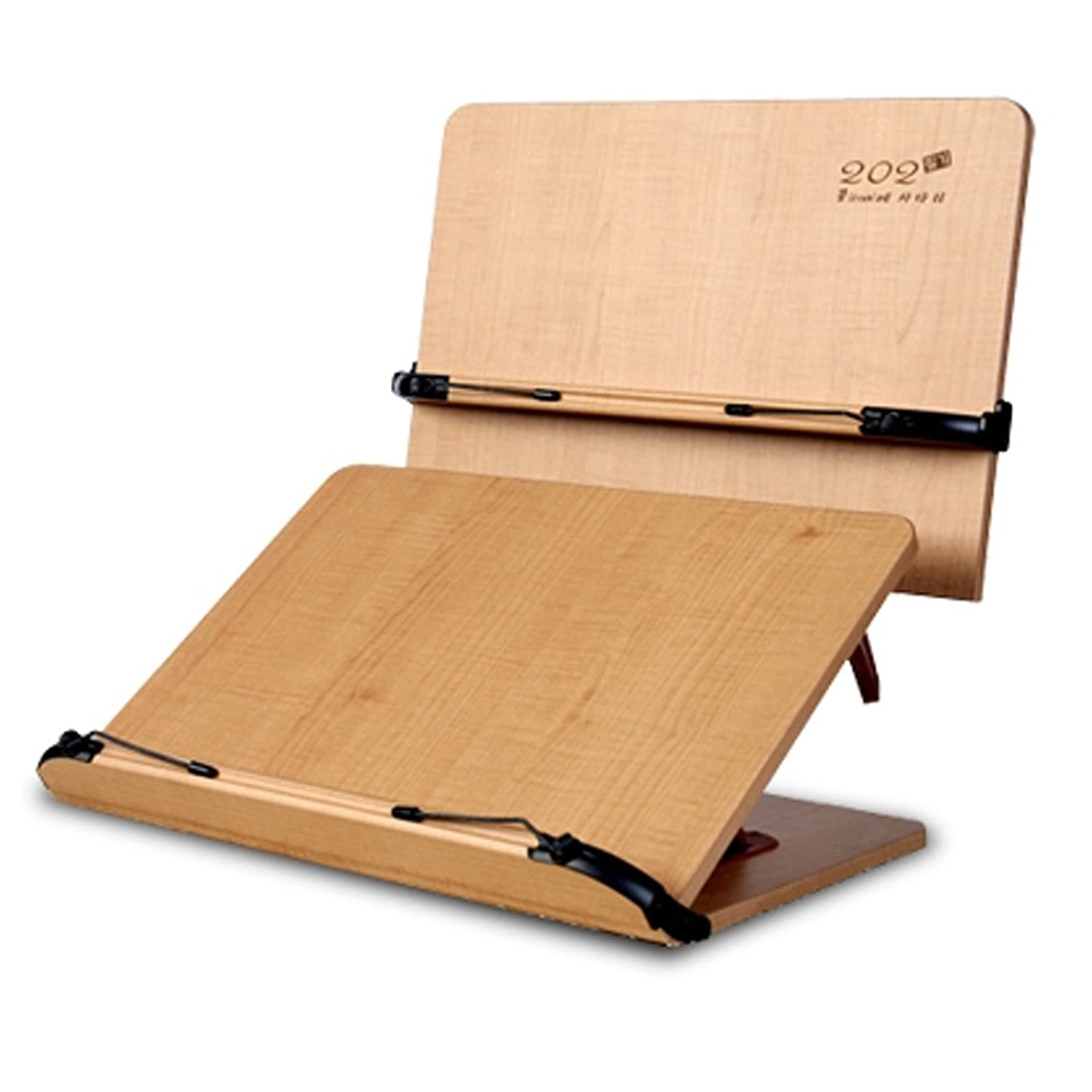 portable wood book holder stand book reading folding desk