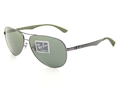 bb1ca85339 Image Unavailable. Image not available for. Color  NewRay Ban Tech RB8313  004 N5 Gunmetal Crystal Grey Polarized Lens 58mm Sunglasses