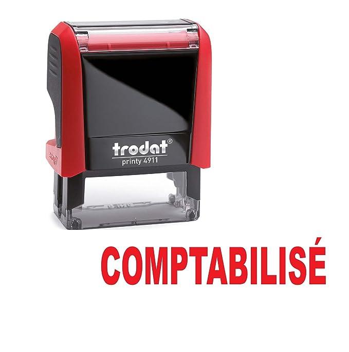 Tampon auto encreur - COMPTABILISÉ - TRODAT Printy 4912 encré rouge  ESTAMPILLE c61bf704b25