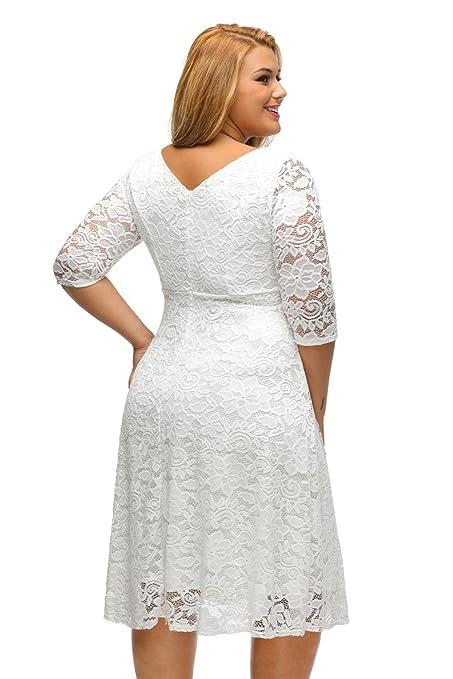 Carolina Dress Vestidos Tallas Grandes Plus Ropa De Moda Para Mujer Sexys Casuales Largos De Fiesta Elegantes Blancos VE0046 at Amazon Womens Clothing ...