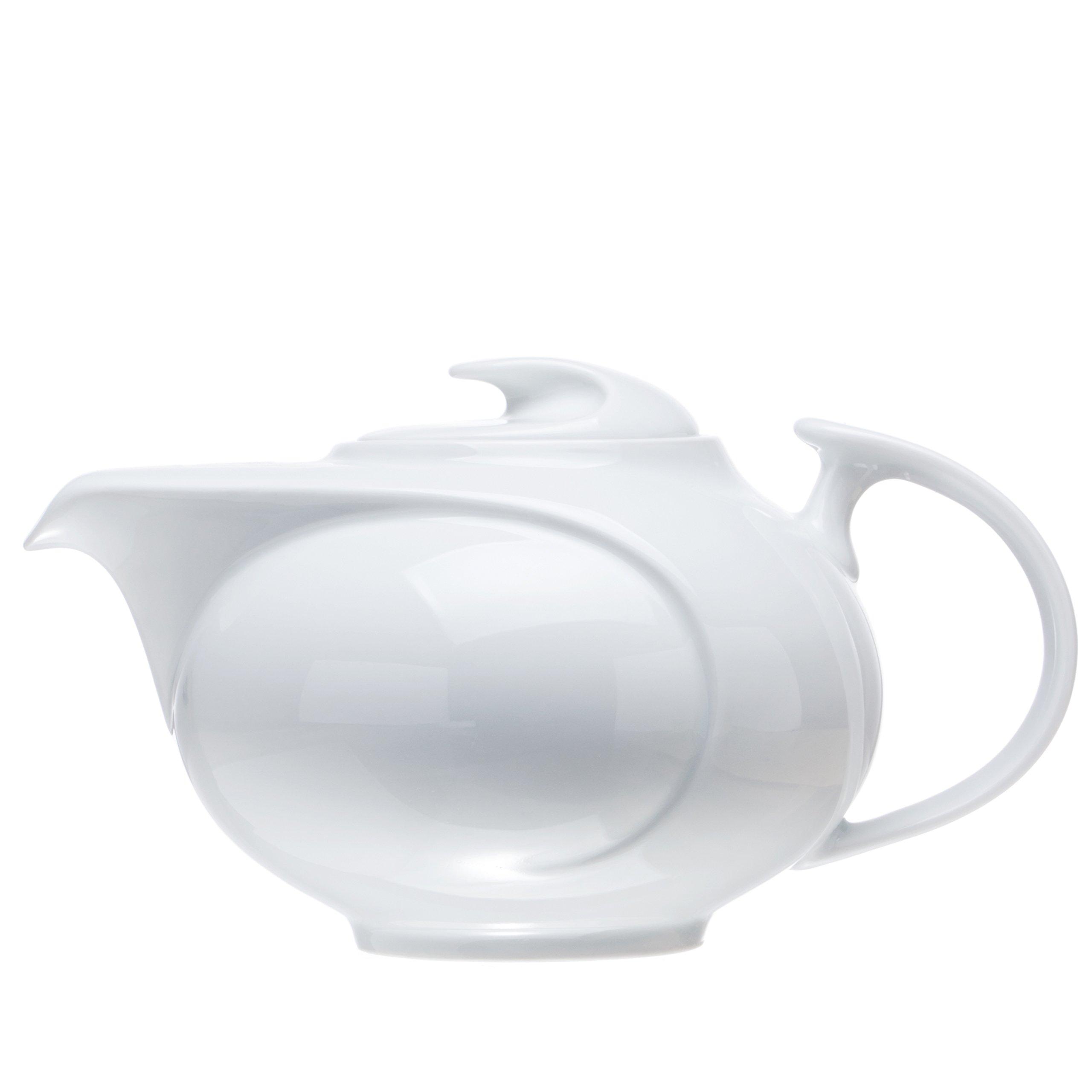 White Porcelain TEAPOT (2 Size), Restaurant&Hotel Quality (40 oz)