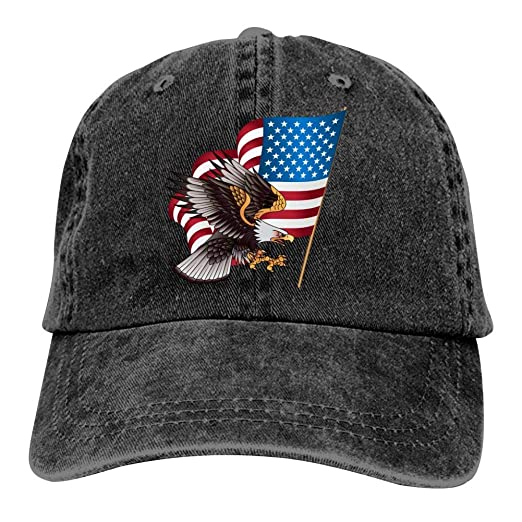 666YES American Eagle Camping Unisex Adult Adjustable Trucker Dad Hats  Adult Cowboy Cap Casquette Baseball Cap 780d0ae69066