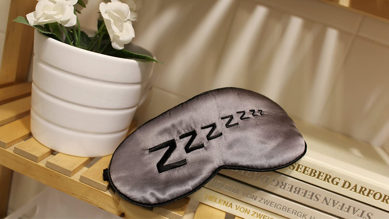 &HUAHUA eyeshade cotton comfortable decompression help sleep Breathable ZZZ, deep gray