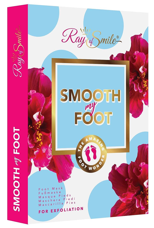 SMOOTH MY FOOT Mascarilla pies para eliminar piel muerta, mascarilla exfoliante para pies, calcetines para pies lisos despué s de solo una aplicació n de RAY OF SMILE Premium Line