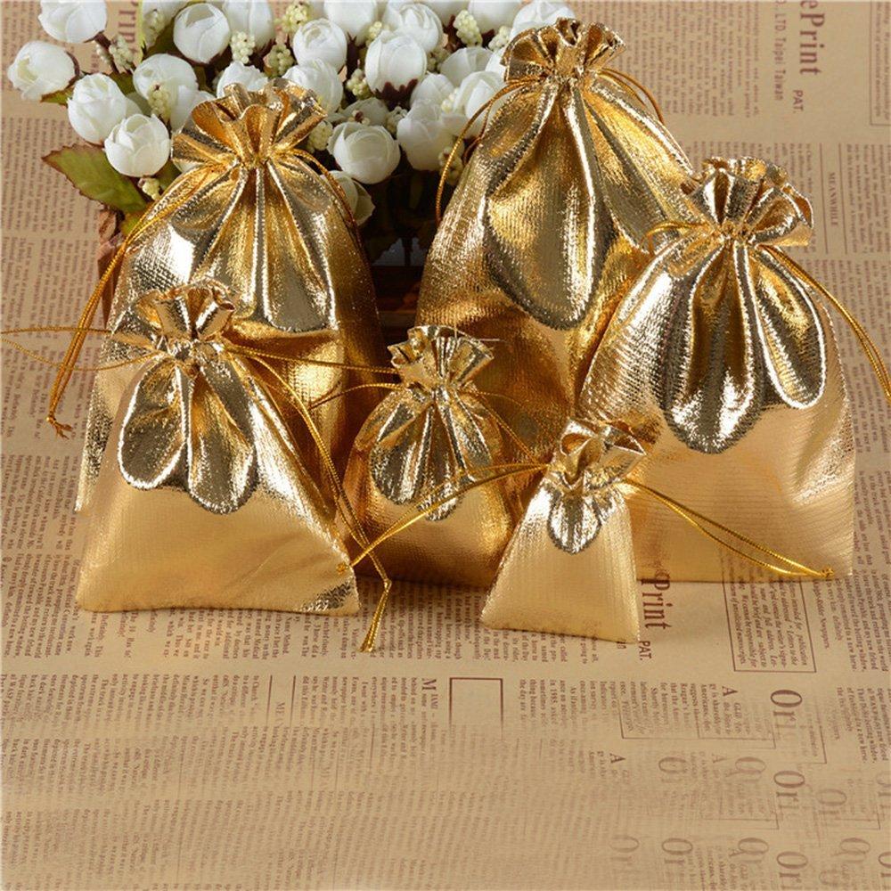 Amazon.com: YUKUNTANG 100 bolsas de organza con cordón ...