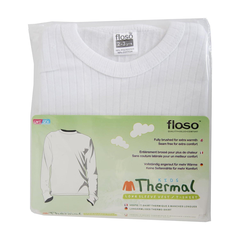 Floso Unisex Childrens//Kids Thermal Underwear Long Sleeve T-Shirt//Top