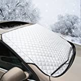 Nasharia Car Windscreen Snow Cover, Car Windshield Snow Cover & Sun Shade Protector with Cotton Thicker Snow Protection Cover Fits Most of SUV
