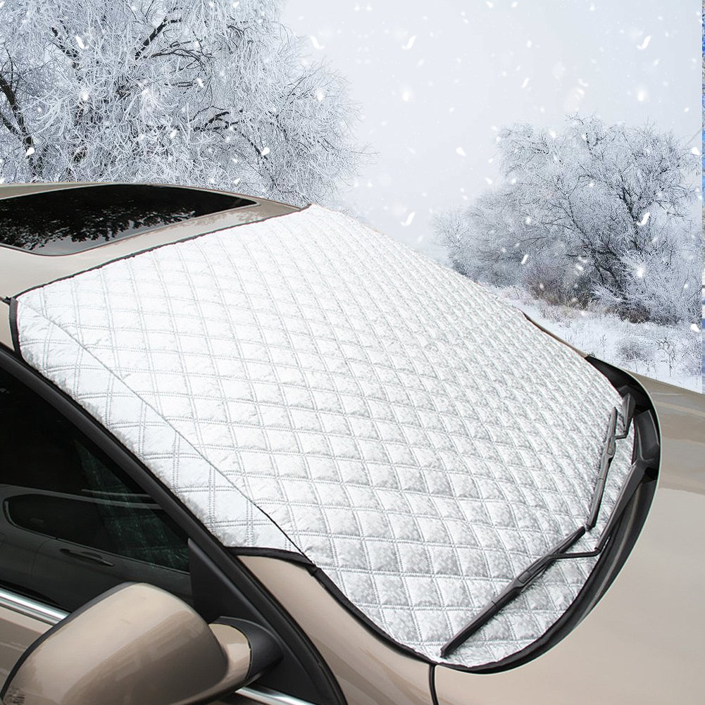 Nasharia Car Windscreen Snow Cover Car Windshield Snow Cover /& Sun Shade Protector with Cotton Thicker Snow Protection Cover Fits Most of SUV
