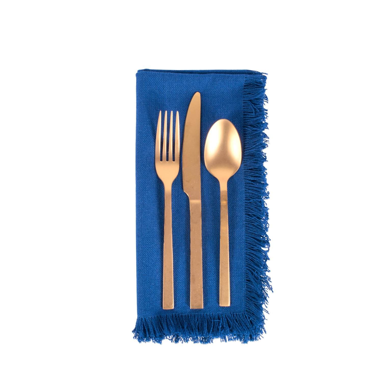 DII 100% Cotton, Oversized Basic Everyday Woven Heavyweight Napkin with Decorative Fringe for Place Settings, Family Dinners, BBQ, and Holidays (20x20'', Set of 6) Navy Blue Solid by DII (Image #7)