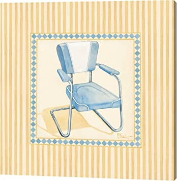 Retro Patio Chair III By Paul Brent   10u0026quot;x10u0026quot; Gallery Wrapped  Giclee Canvas