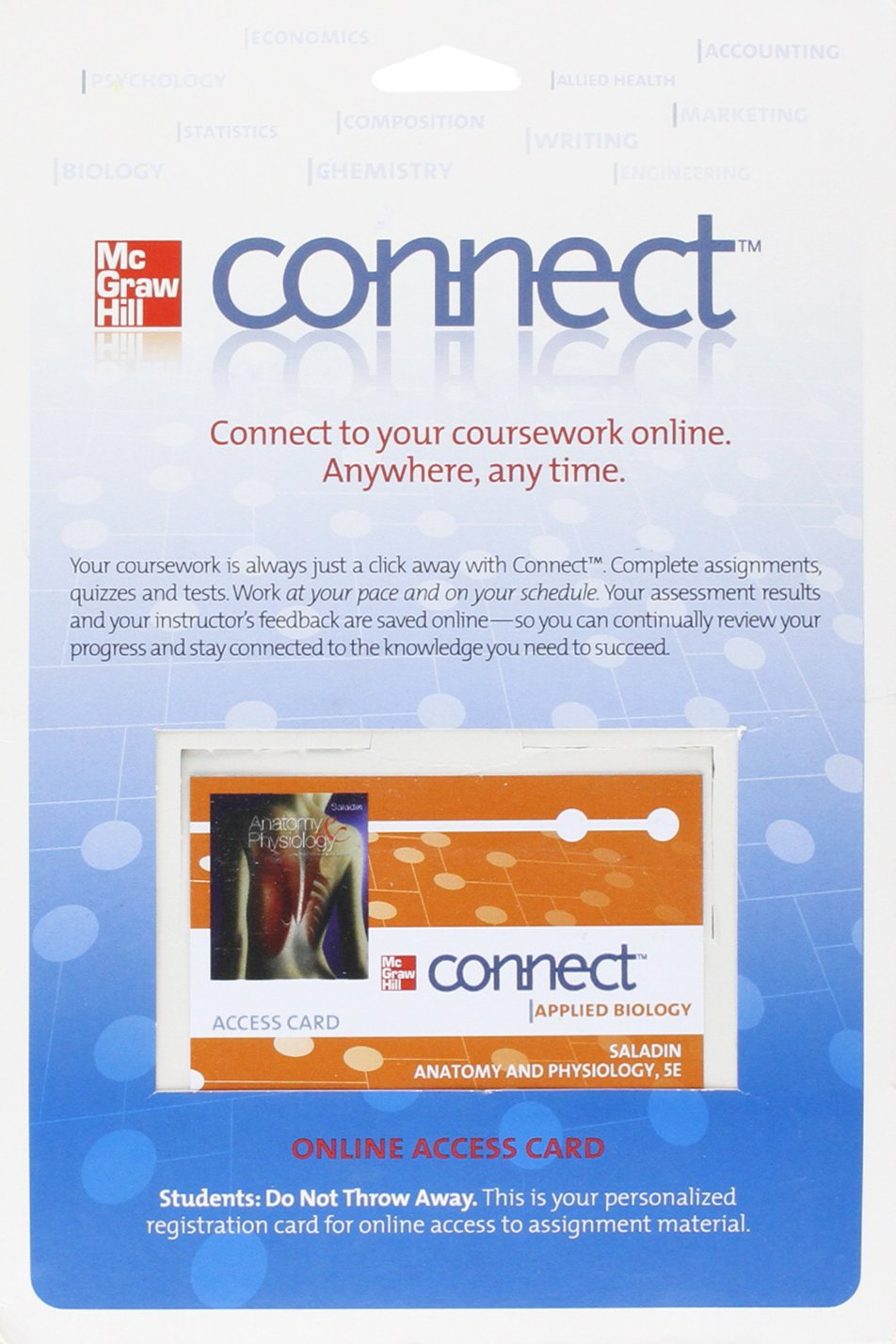 Connect Access Card for Anatomy and Physiology: Kenneth Saladin ...