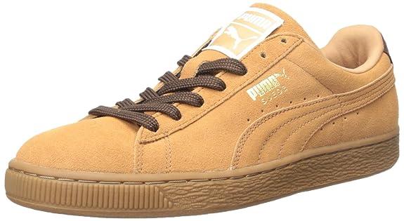 Puma Suede zapatillas clásicas de manera ocasional, Sandstorm/Oxblood/Gum, 47